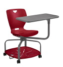 Classroom Select NeoMove2 Chair, Laminate Tablet Top with LockEdge, Poly Base, A Seat Height