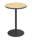 Classroom Select Round Top Cafe Table with Round Base, 24 Inches, 42 Inch Height, T-Mold Edge, Various Options