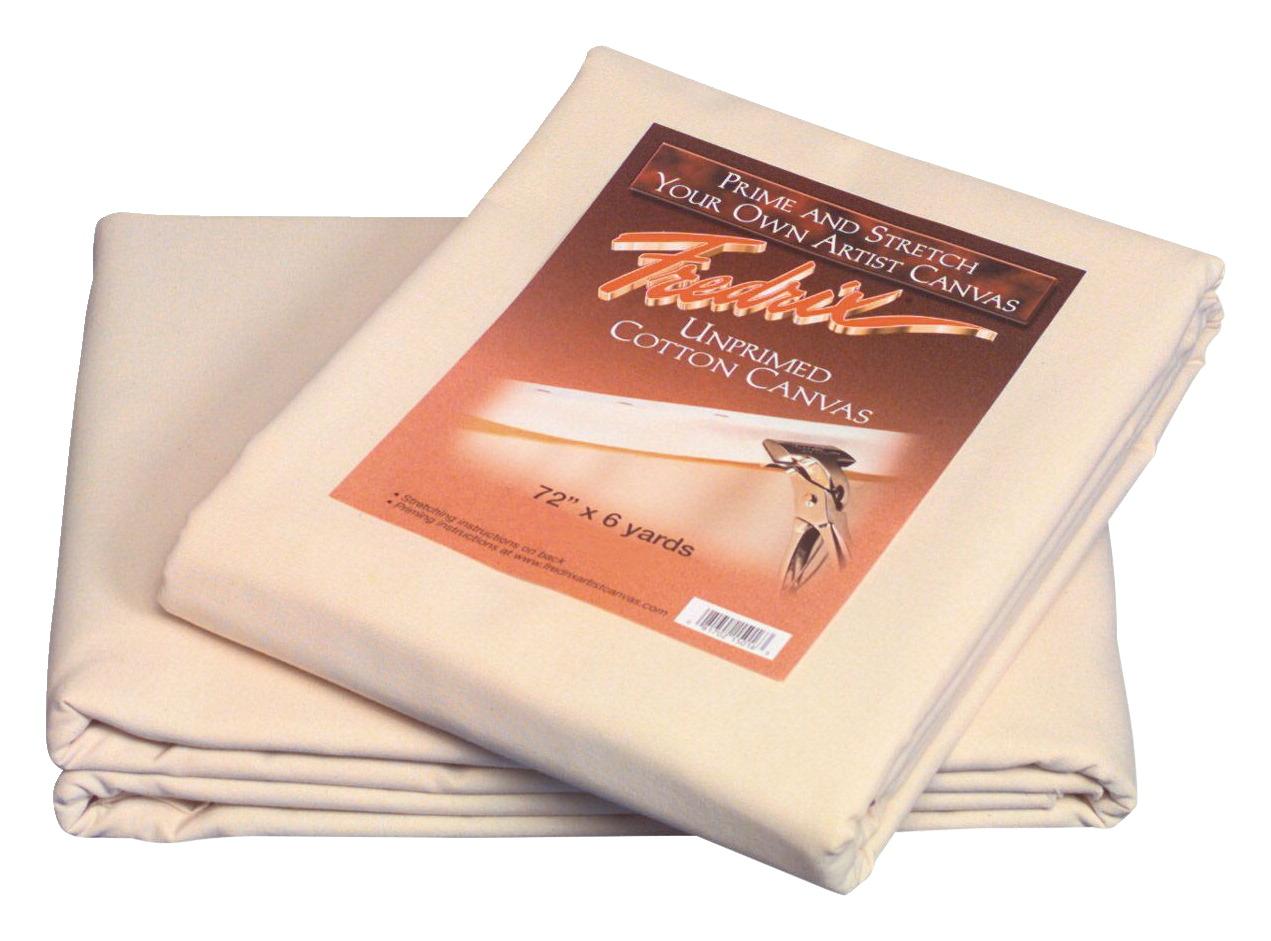 Details about Fredrix Cotton Duck Unprimed Folded Canvas, 72 Inches x 6  Yards, 12 Ounces