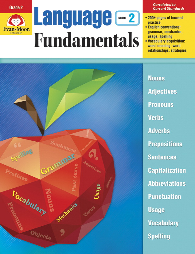 Evan-Moor Language Fundamentals, Teacher Reproducibles, 272 Pages, Grade 2