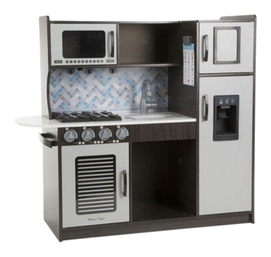 Melissa & Doug Chef Kitchen, 39 x 43-1/4 x 15-1/2 Inches, Charcoal