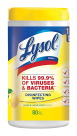 Lysol Disinfectant Sanitizing Wipes, Lemon Lime Scent, 80 Sheets
