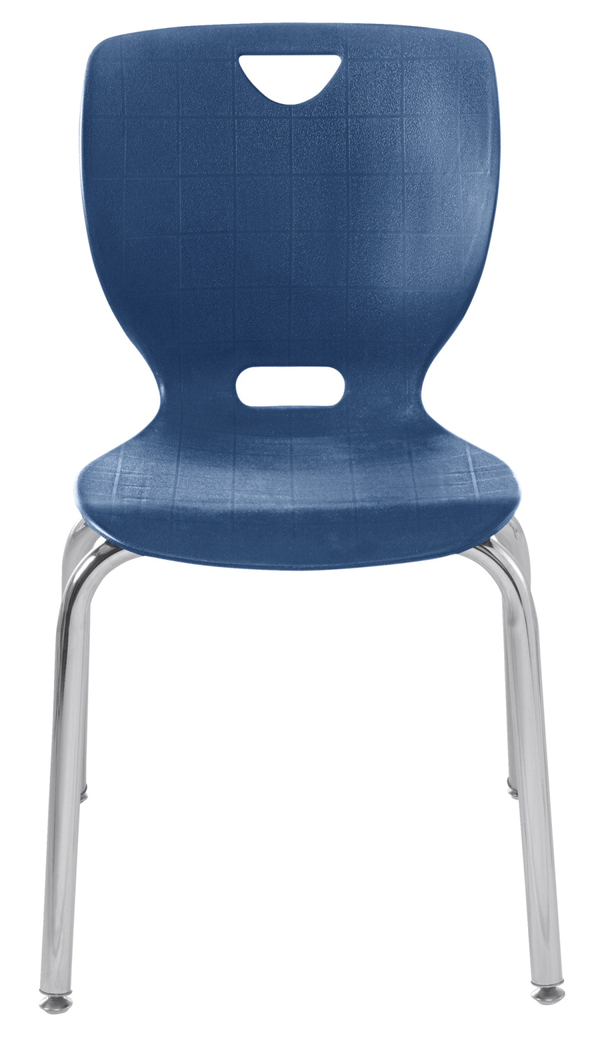 Classroom Select NeoClass Smooth Back Chair, Imperial Shell, Chrome Frame, Steel Glide, 16 Inch Seat Height, Chrome Frame
