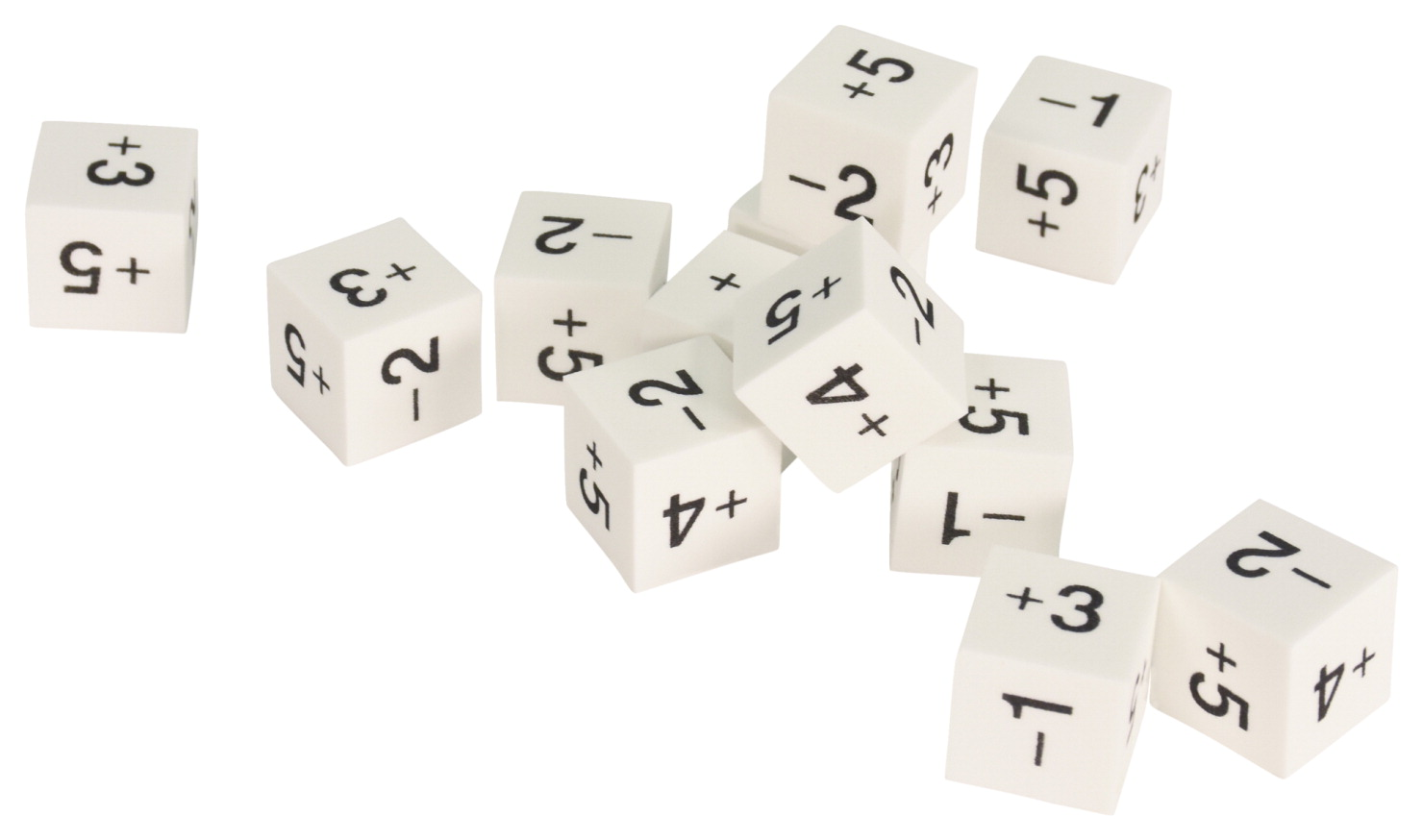 School Smart Foam Dice, Positive and Negative Numbers, 6 Sided, Set of 12