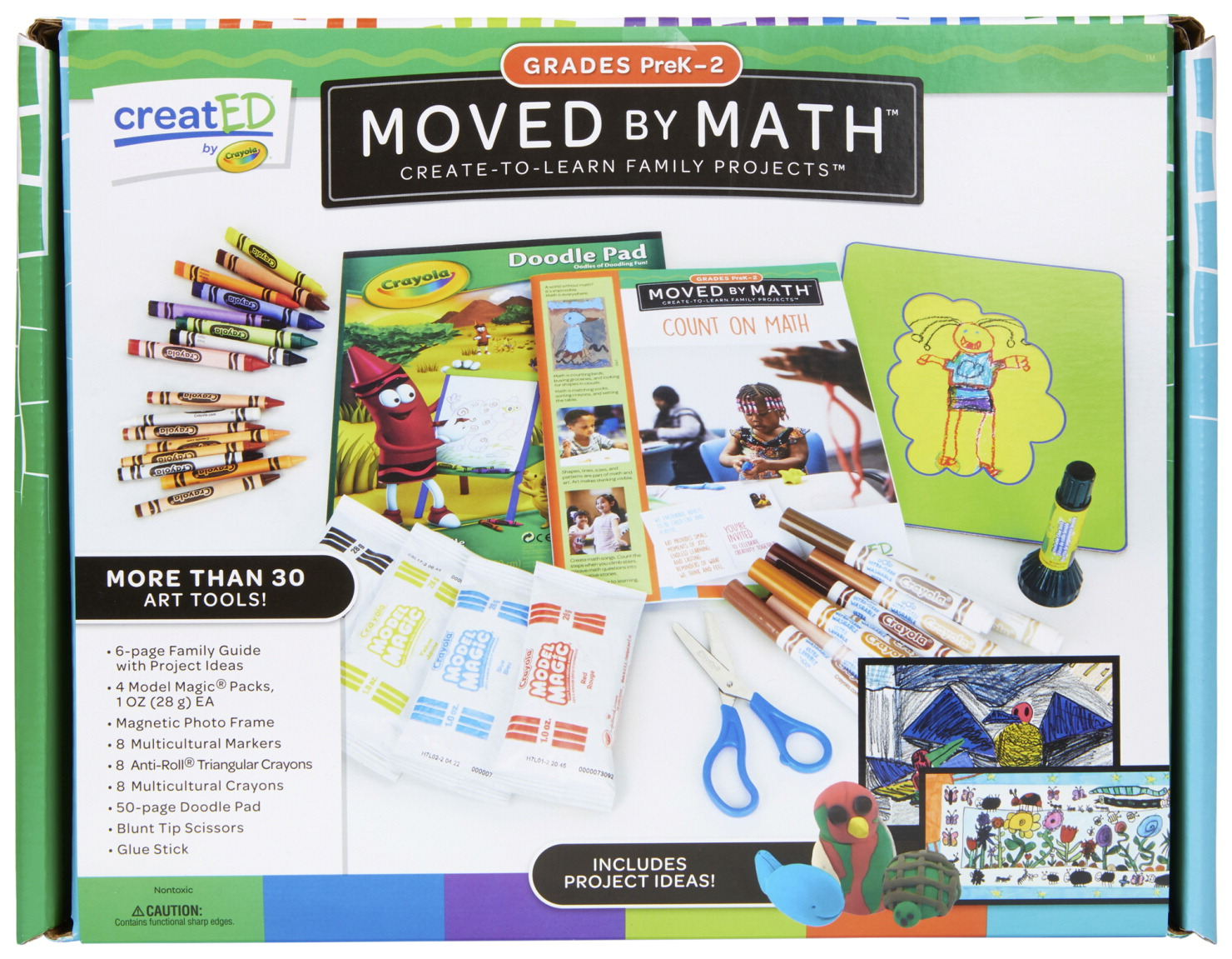 Crayola creatED Family Engagement Kit, Moved By Math, Grades PreK to 2