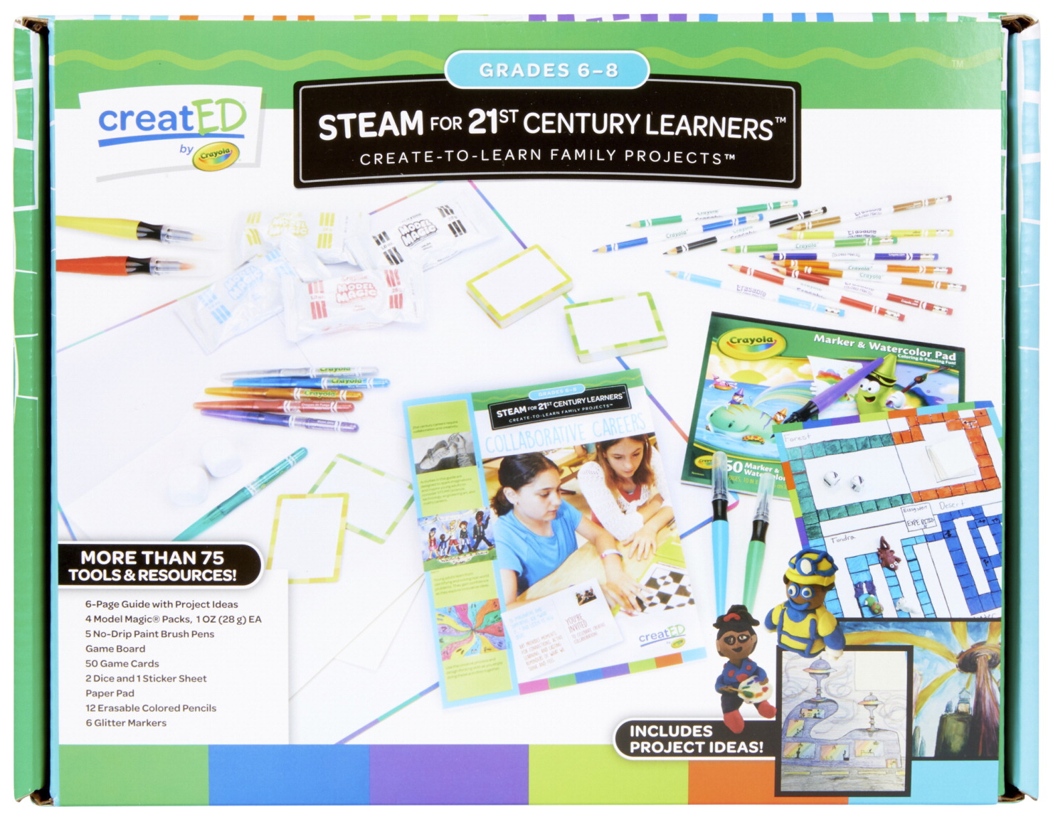 Crayola creatED Family Engagement Kit, STEAM for 21st Century Learners, Grades 6 to 8