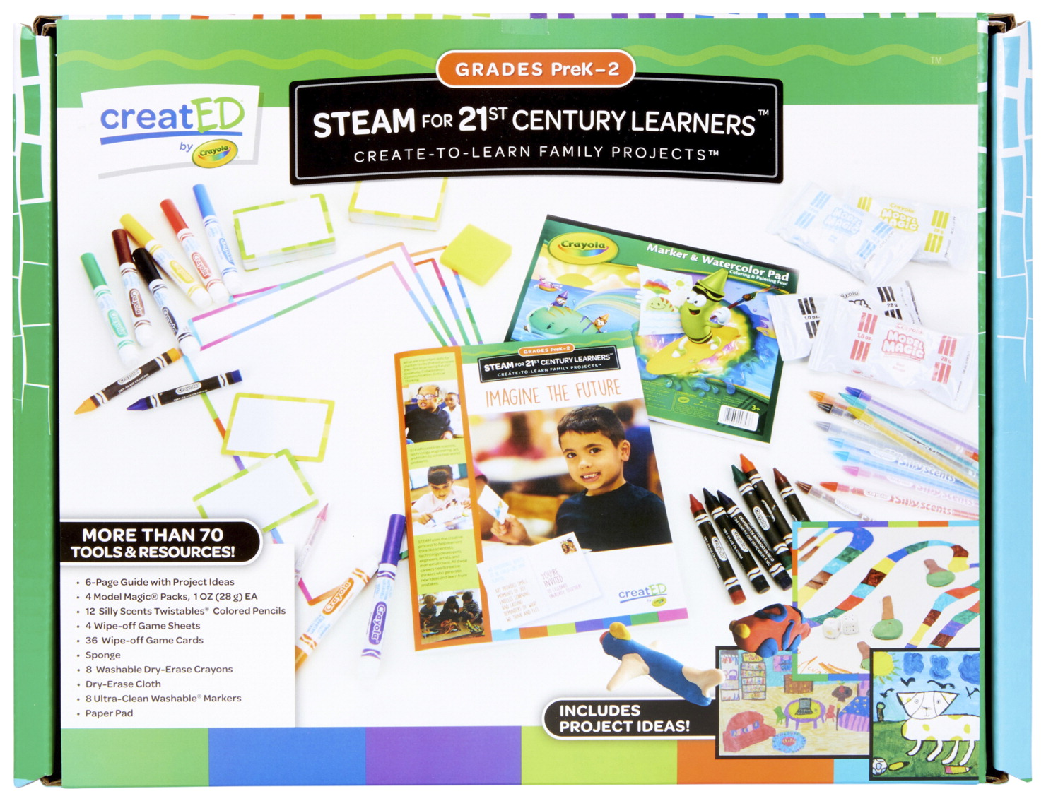 Crayola creatED Family Engagement Kit, STEAM for 21st Century Learners, PreK to Grade 2