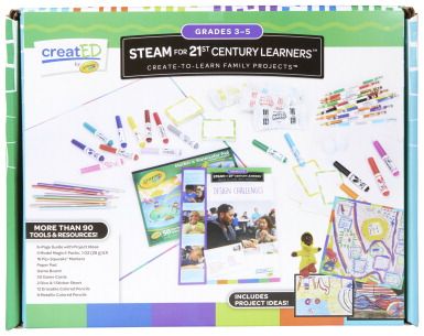 Crayola creatED Family Engagement Kit, STEAM for 21st Century Learners, Grades 3 to 5