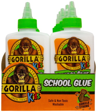 Gorilla Glue School Glue, 4 Ounces, White, Pack of 12