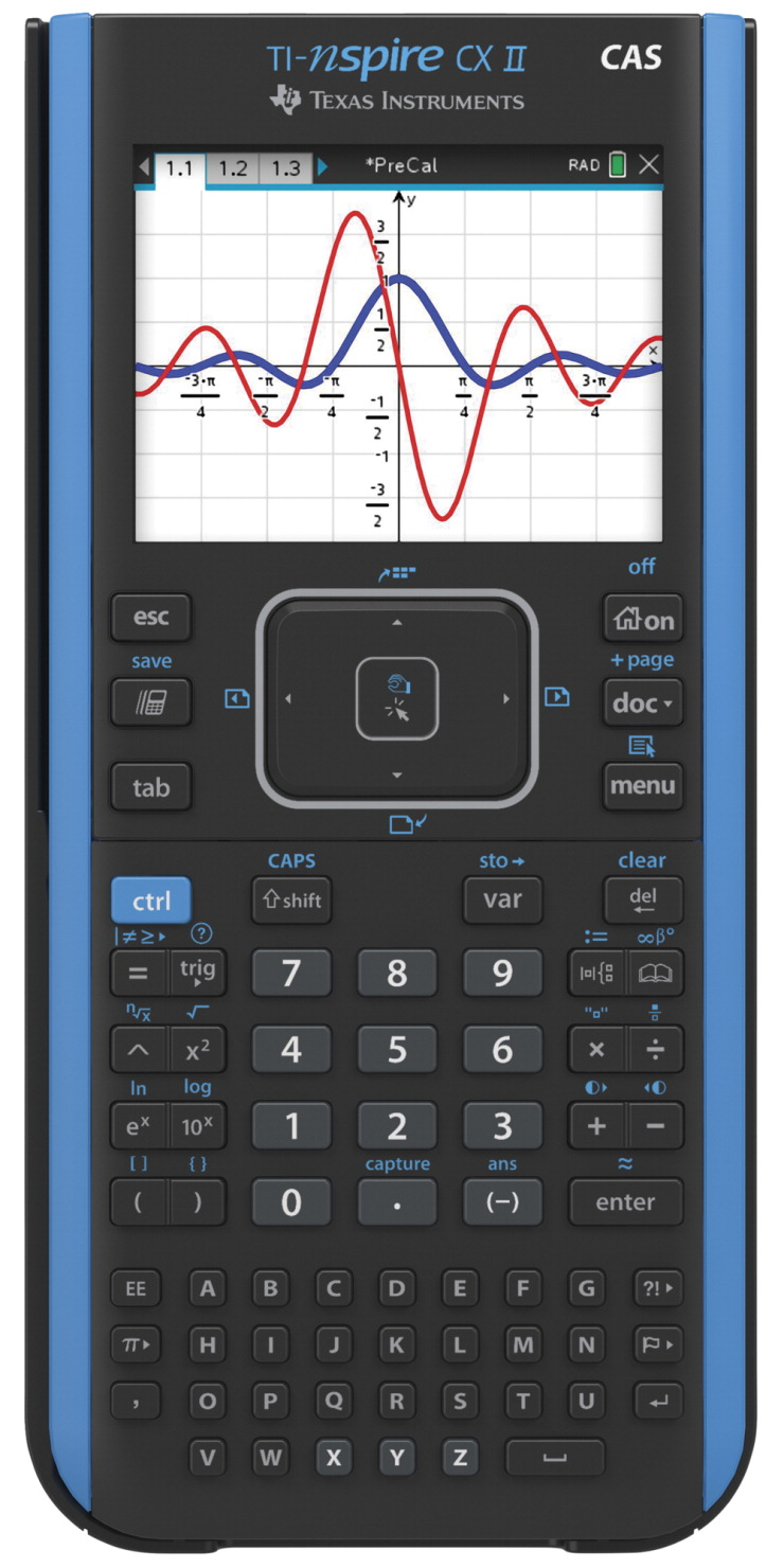 Texas Instruments Nspire CX II CAS Graphing Calculator, Teacher Pack