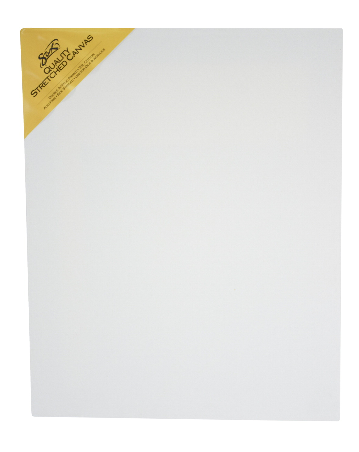 Sax Quality Stretched Canvas, Double Acrylic Primed, 16 x 20 Inches, White