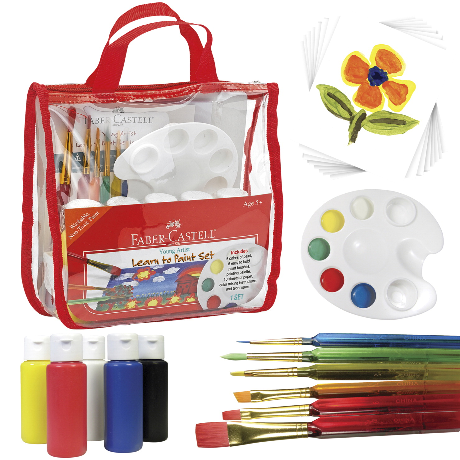 faber castell young artist learn to paint set  school