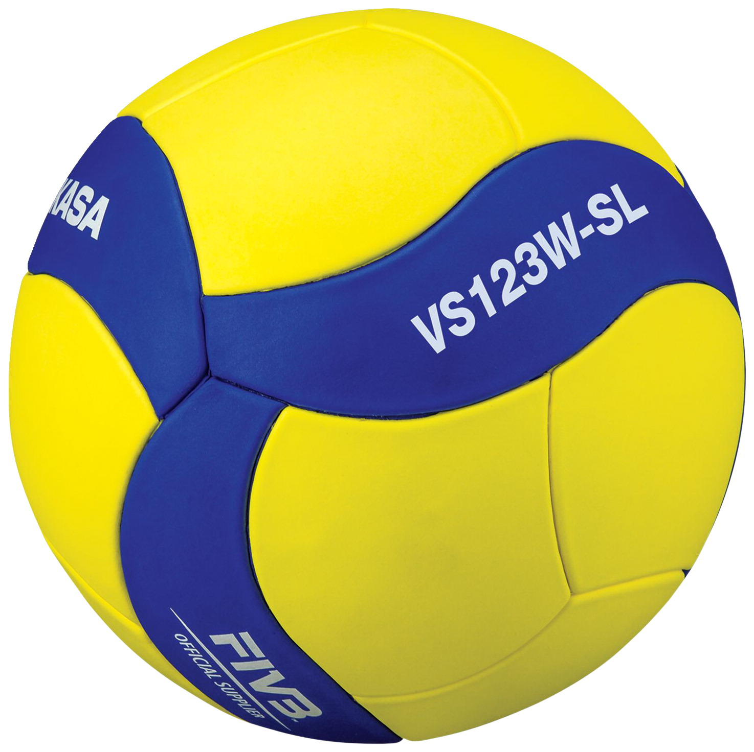 Mikasa VS123WSL Size 5 Official Super Lightweight Training Volleyball, Yellow/Blue