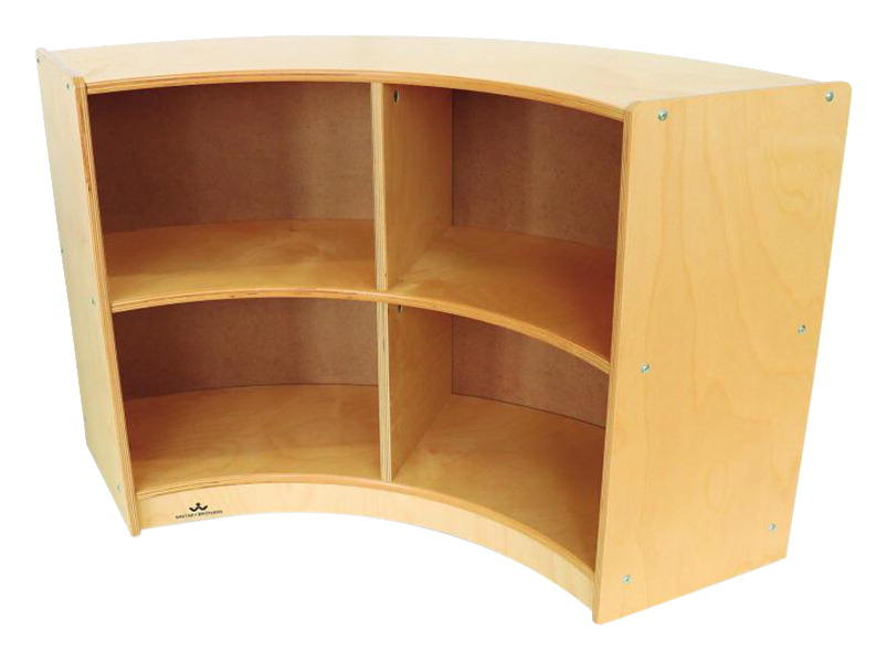 Whitney Brothers Curved Storage - Back Out Curve, 41 x 11-3/4 x 24 Inches
