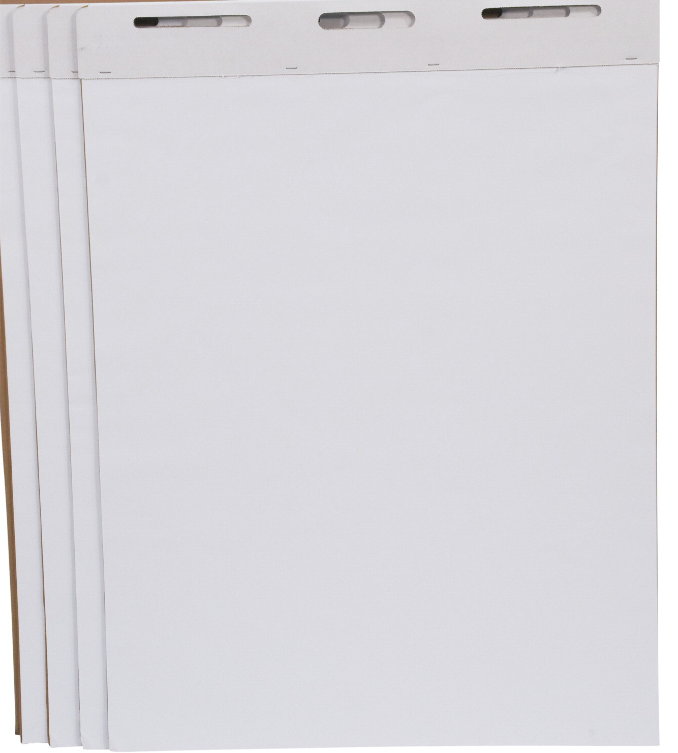 School Smart Unruled Easel Pad, 27 x 34 Inches, White, 50