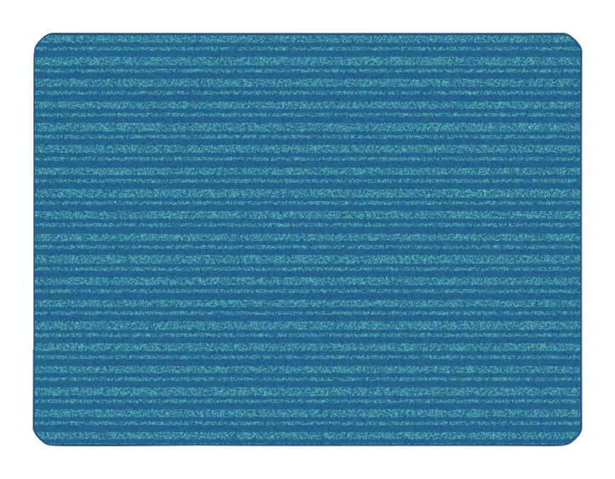 Carpets for Kids KIDSoft Subtle Stripes, 6 x 9 Feet, Rectangle, Blue and Teal