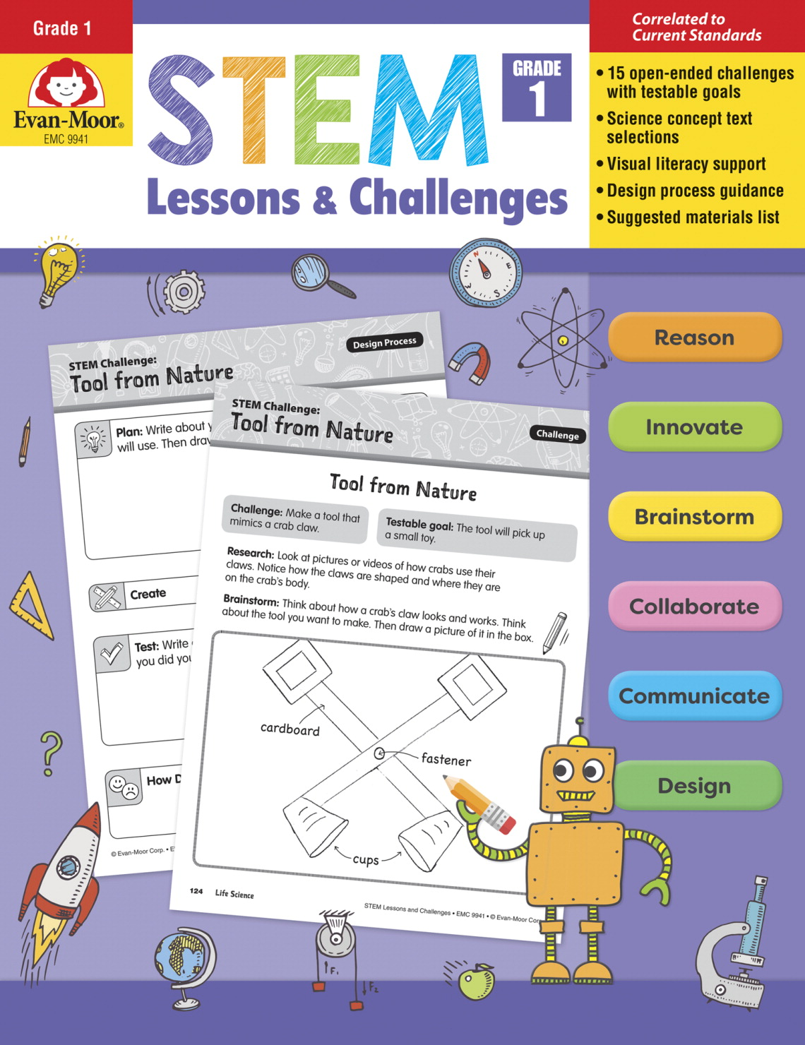 Evan-Moor STEM Lessons & Challenges, Gr. 1