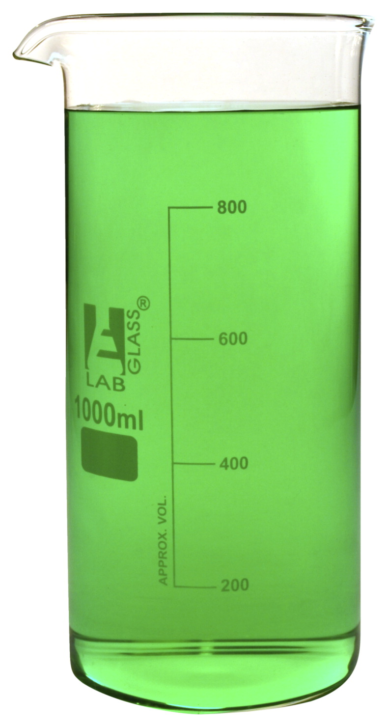 400ml with Spout Beaker Graduated Borosilicate Glass Tall Form Eisco Labs