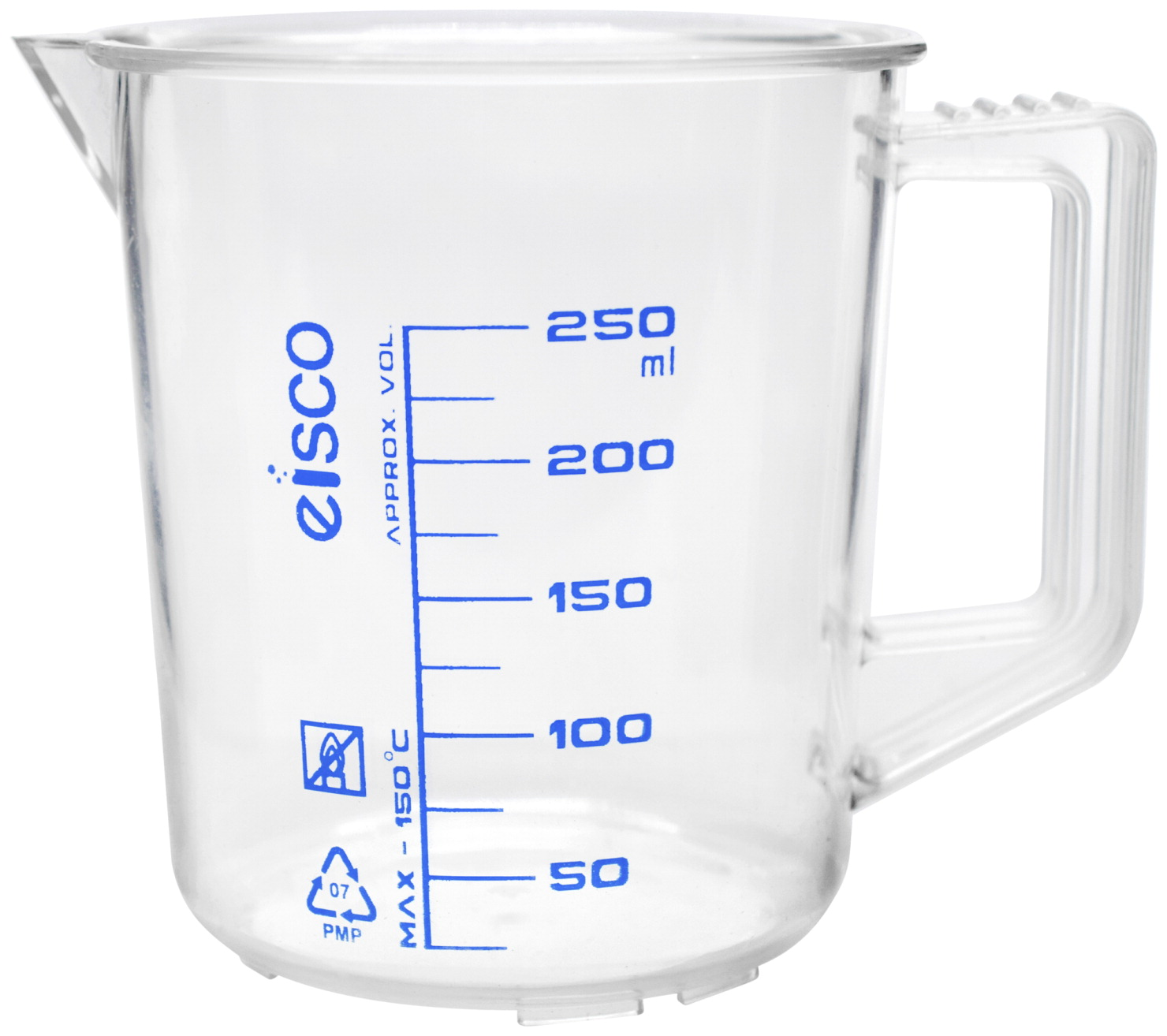 Eisco Labs Measuring Jug with Handle and Spout, Polypropylene, TPX, 250 mL