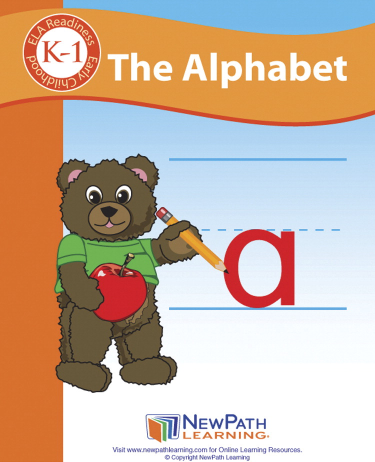 Newpath Learning The Alphabet Student Activity Guide, 44 Pages, Gr. K to 1