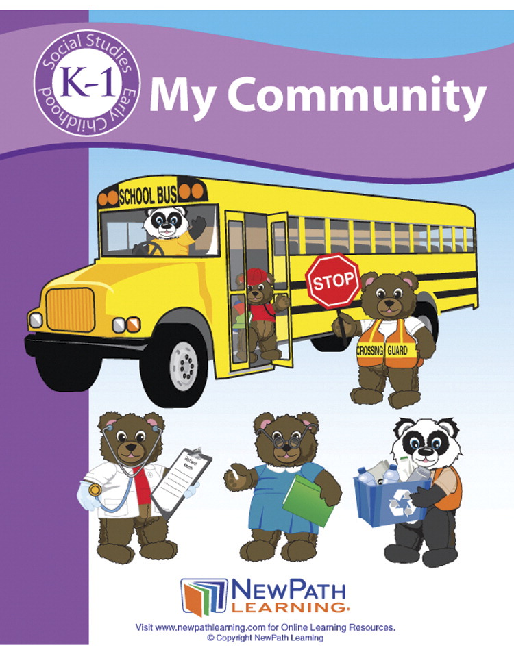 Newpath Learning My Community Student Activity Guide, Grade K to 1