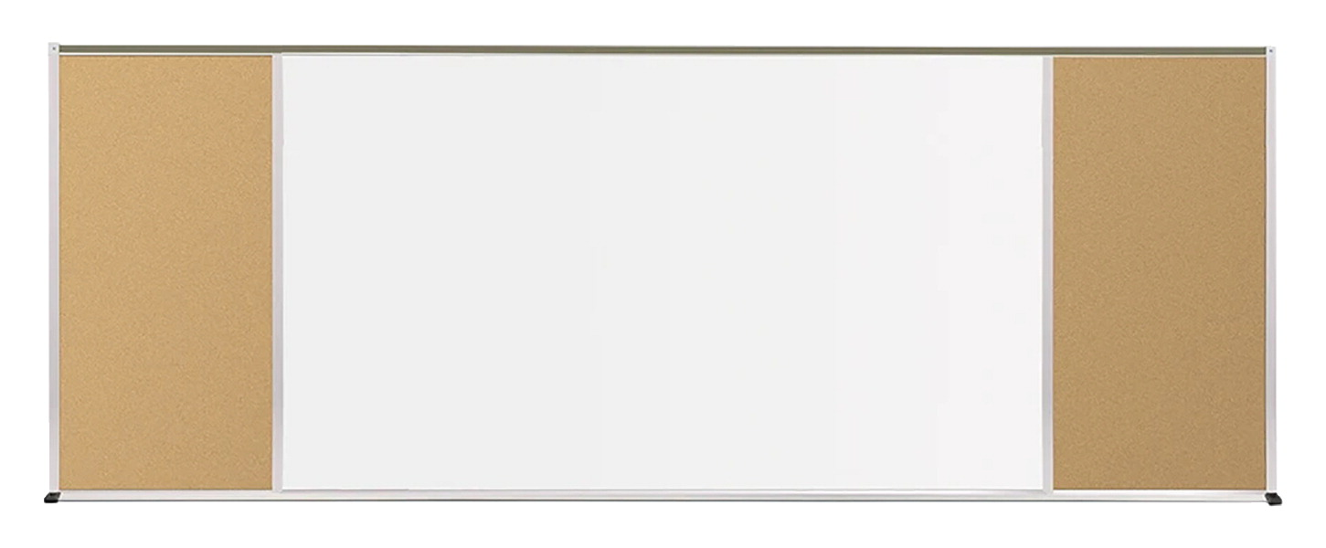 Best-Rite Bulletin Board and Markerboard, 4 ft H X 16 ft W