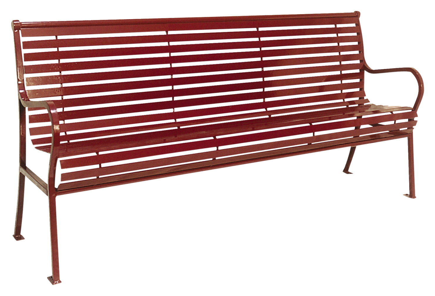 UltraSite Hamilton Steel Bench with Back, 74 x 24 x 36 Inches, Various Options