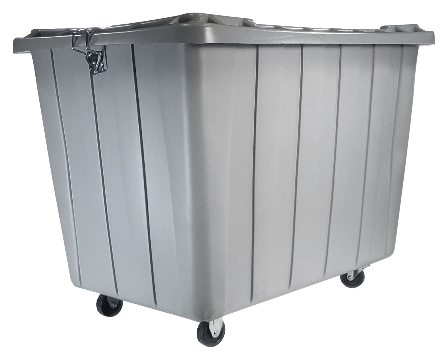 Shirley K S Heavy Duty Storage Container With Securing Lid And Caster Wheels Gray Soar Life Products