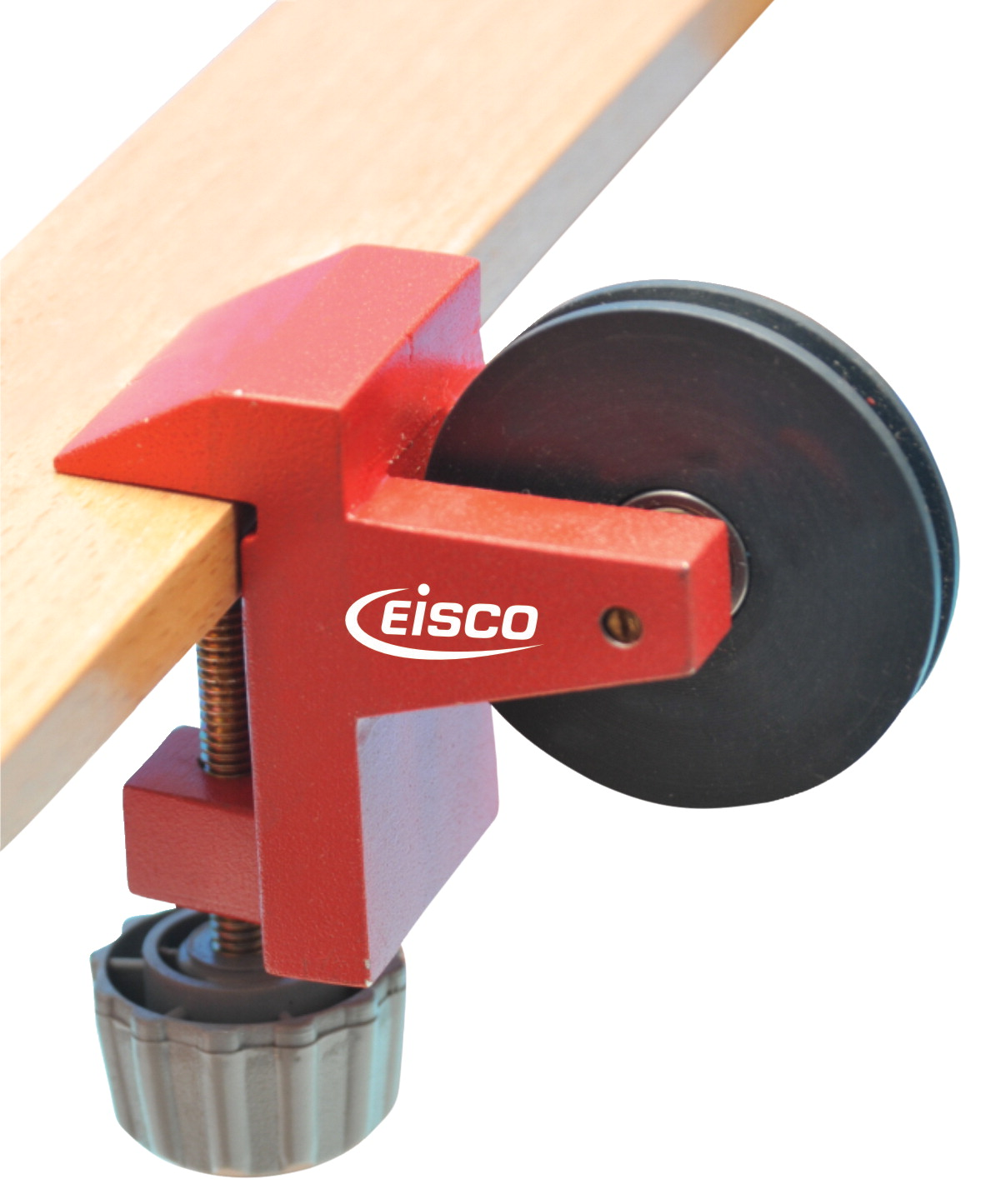 Eisco Labs Pulley on Clamp, with Metal 1 Inch Mouth