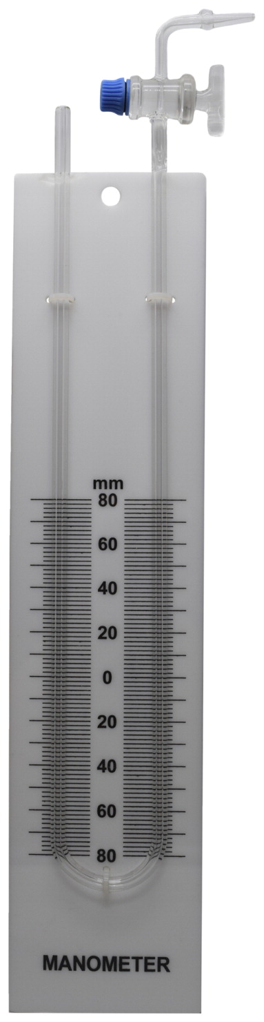 Eisco Labs Glass Manometer, U-Tube, 80-0-80 Scale