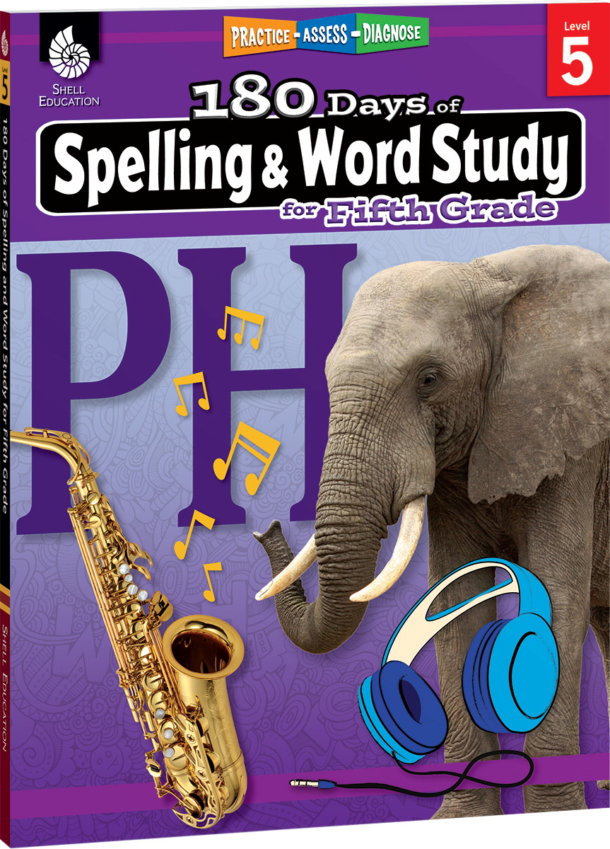 Shell Education 180 Days of Spelling and Word Study for Fifth Grade