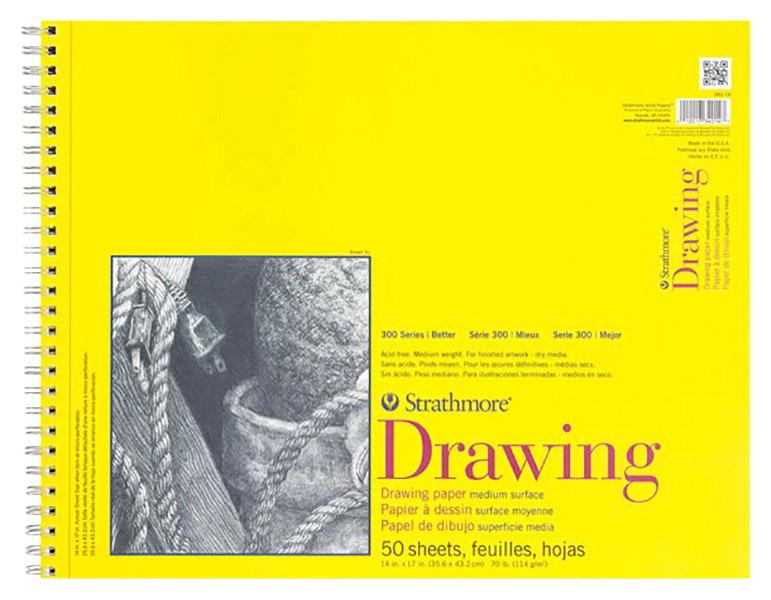 "Strathmore espiral Papel de dibujo Pad 11/""X14/""-100 Hojas"