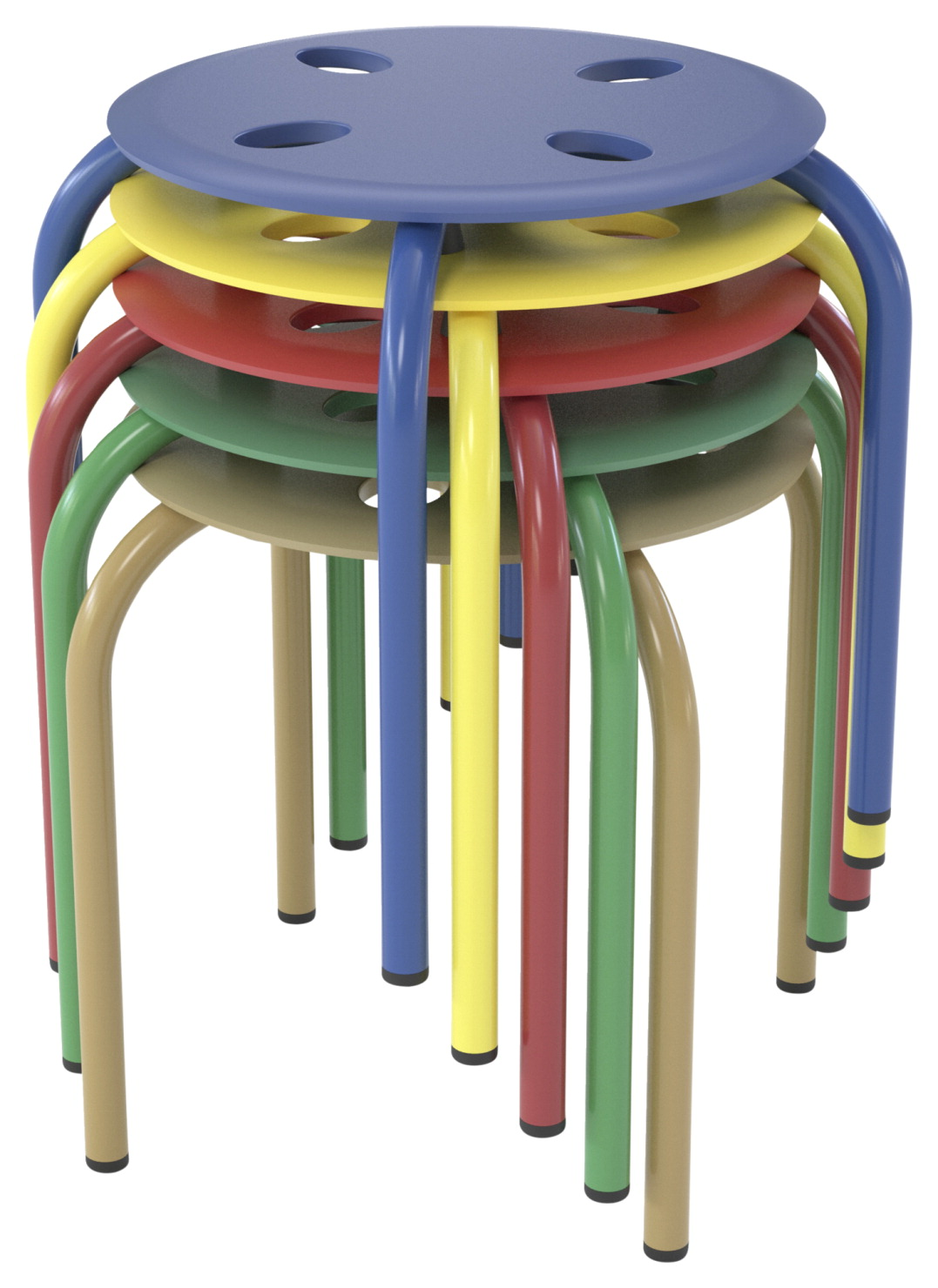 Classroom Select Prima Stool, 12 Inch Seat Height, Set of 5