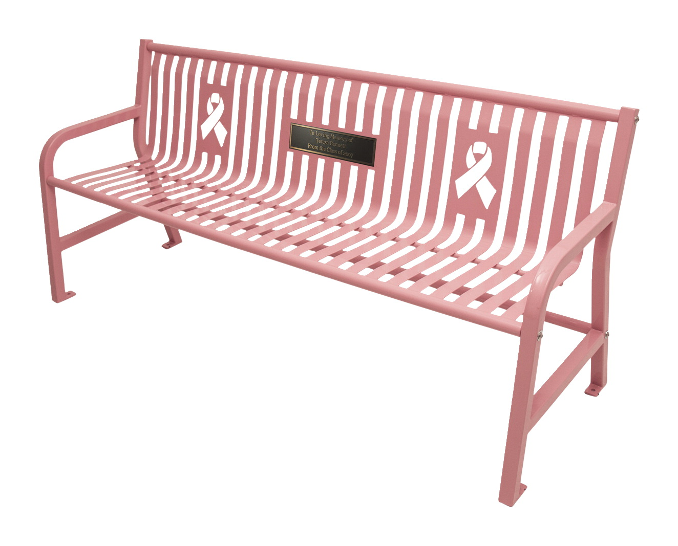 UltraSite 6 Ft Jackson Memorial Bench No Plaque, Various Options