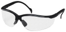 ProGuard 830 Series Style Line Safety Eyewear, Polycarbonate, Clear and Black, Count 12, Case of 12