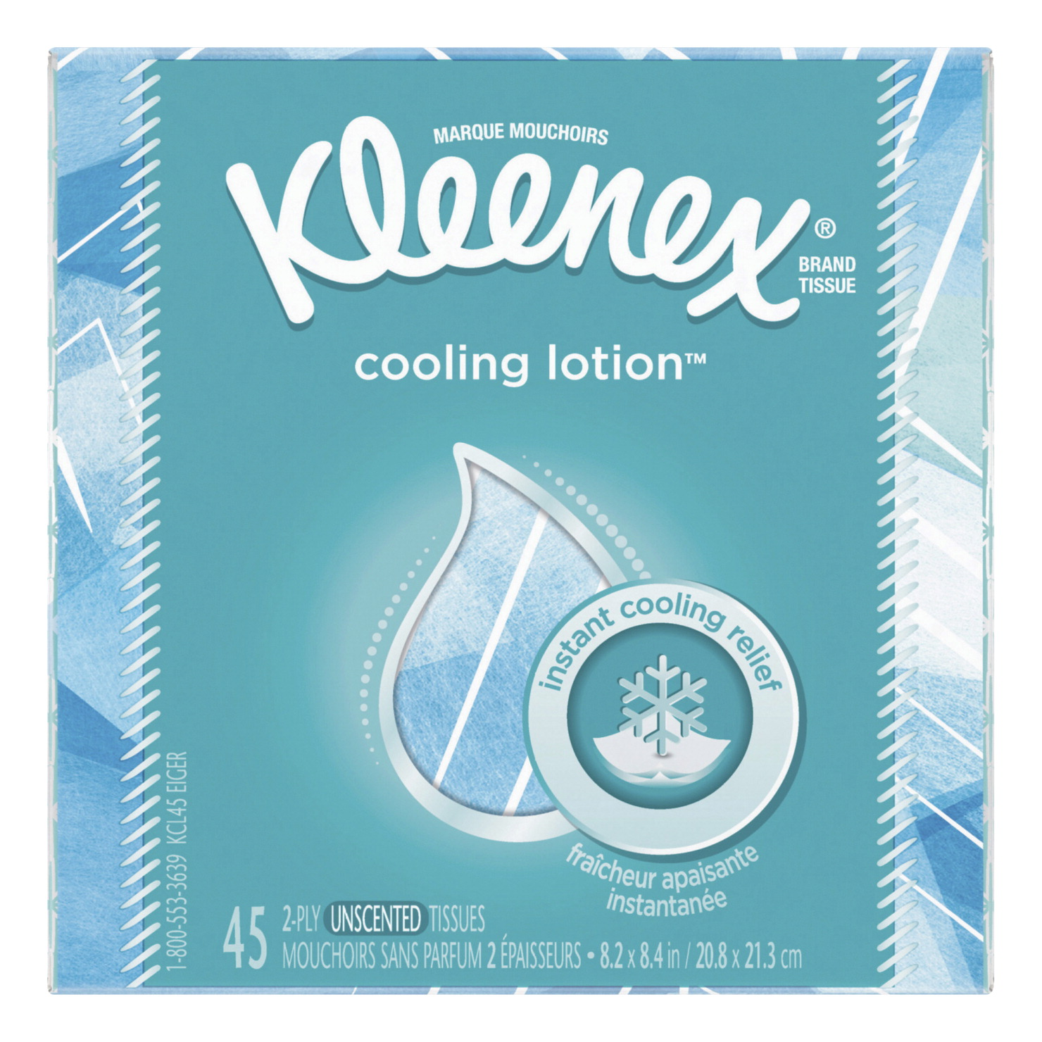 Kleenex Cooling Lotion Tissues, 2 Ply, Assorted Colors, Each