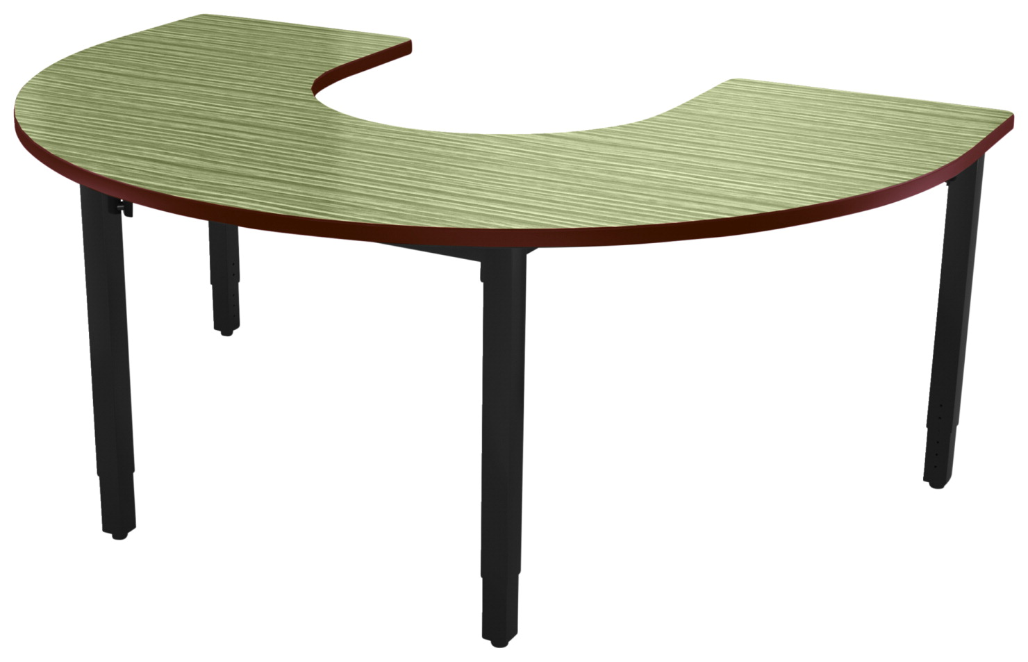 Classroom Select Vigor Table, 72 x 48 Inch Horseshoe Laminate Top with T-Mold, Various Options
