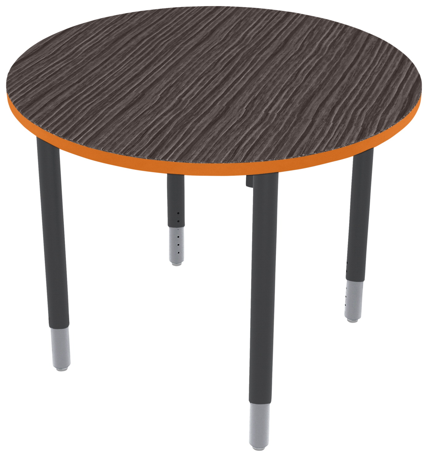Classroom Select Vigor Table, 36 Inch Round Laminate Top with T-Mold, Various Options