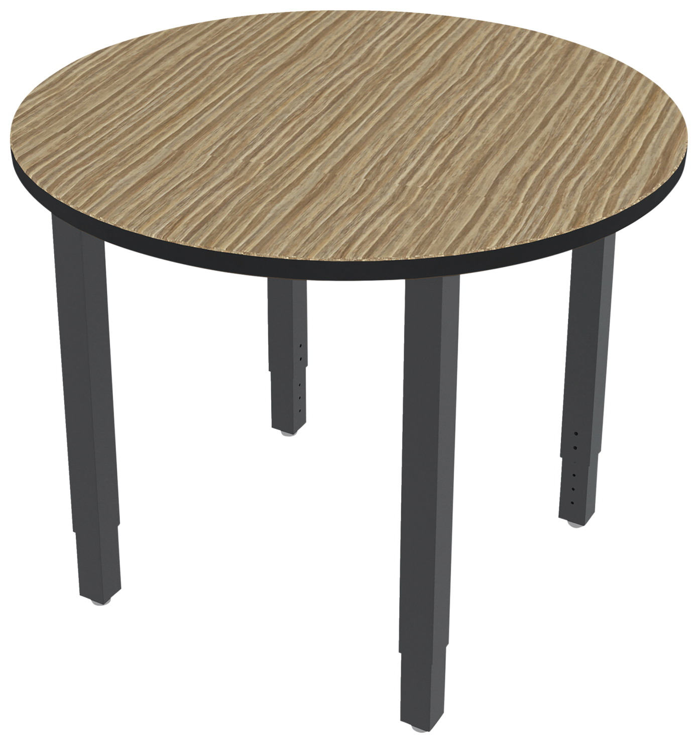 Classroom Select Vigor Table, 48 Inch Round Laminate Top with LockEdge, Various Options