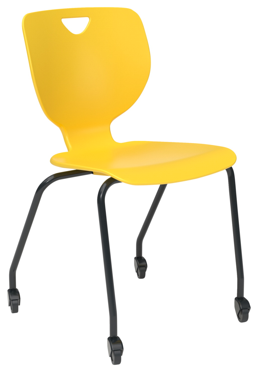 Classroom Select Inspo Round Tube Four Leg Chair, 20 A+ Inch Seat Height, Various Options