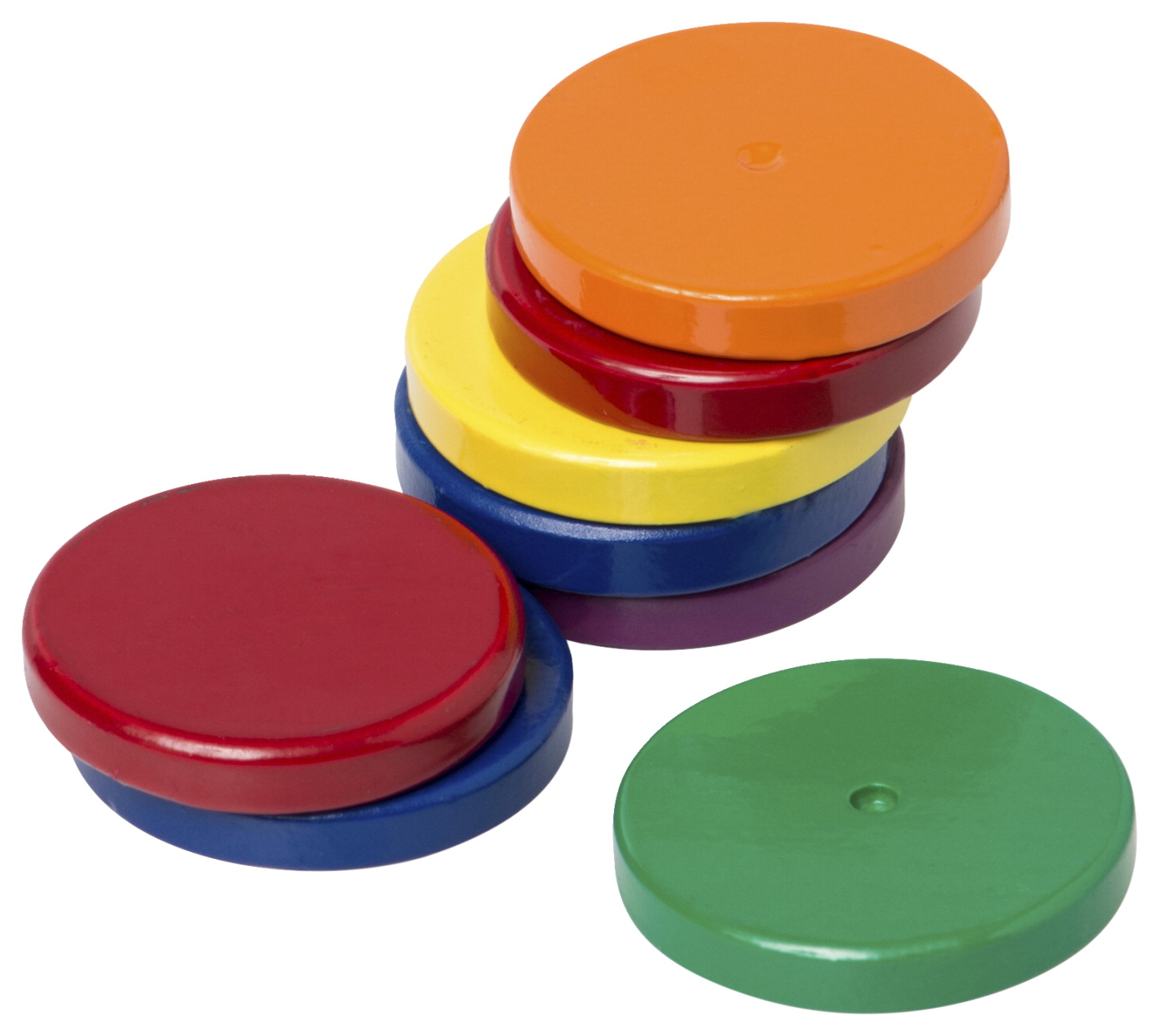 Dowling Magnets Ceramic Disk Magnets, 1 Inch, Assorted, Set of 8