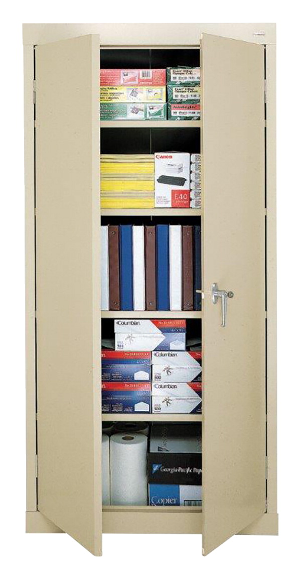 Boltless Storage Cabinet with Shelves, 36 x 18 x 72 Inches, Various Options