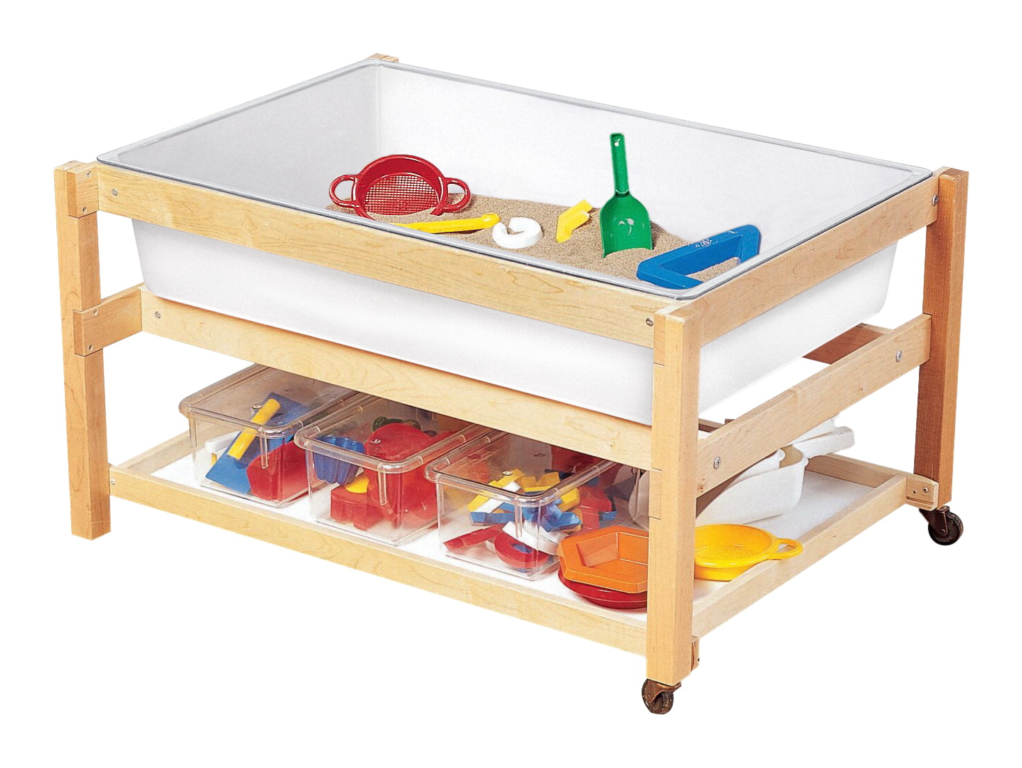 Childcraft Sand And Water Table With Shelf And Cover White Tub School Specialty Canada