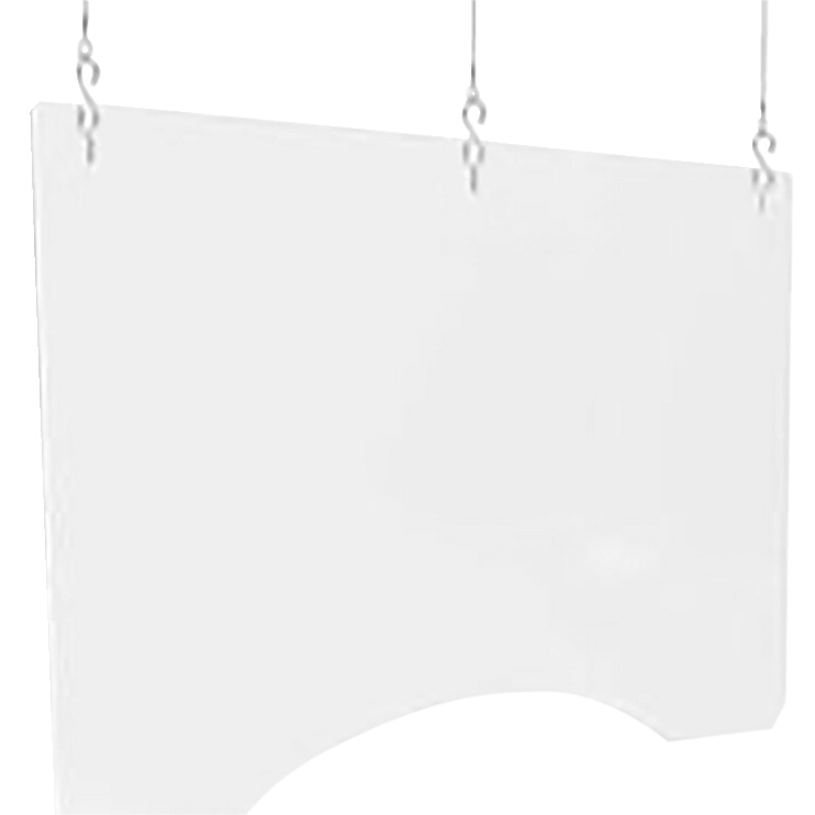 Deflecto Hanging Safety Divider, 36 x 24 x 1/8 Inches, Thick Polycarbonate With Three Holes, Pack of 2