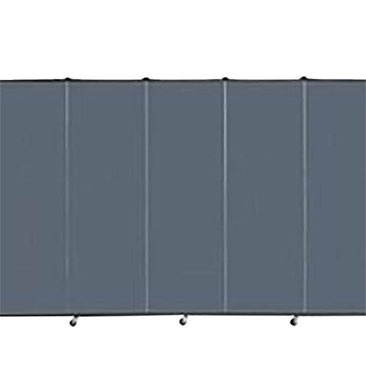 Screenflex Portable Partitions Inc Healthflex Partition 5 Panel, Specify Panel Color, 5 Feet 9 Inches X 9 Feet 5 Inches