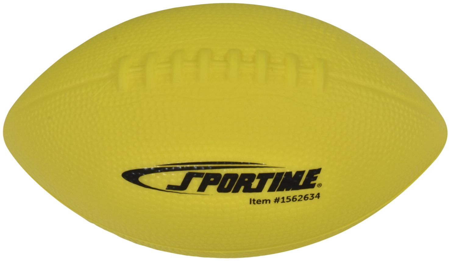 Sportime Coated Foam Junior Football, High-Visibility Yellow