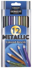 Sargent Art Colored Pencils, Metallic, Set of 12