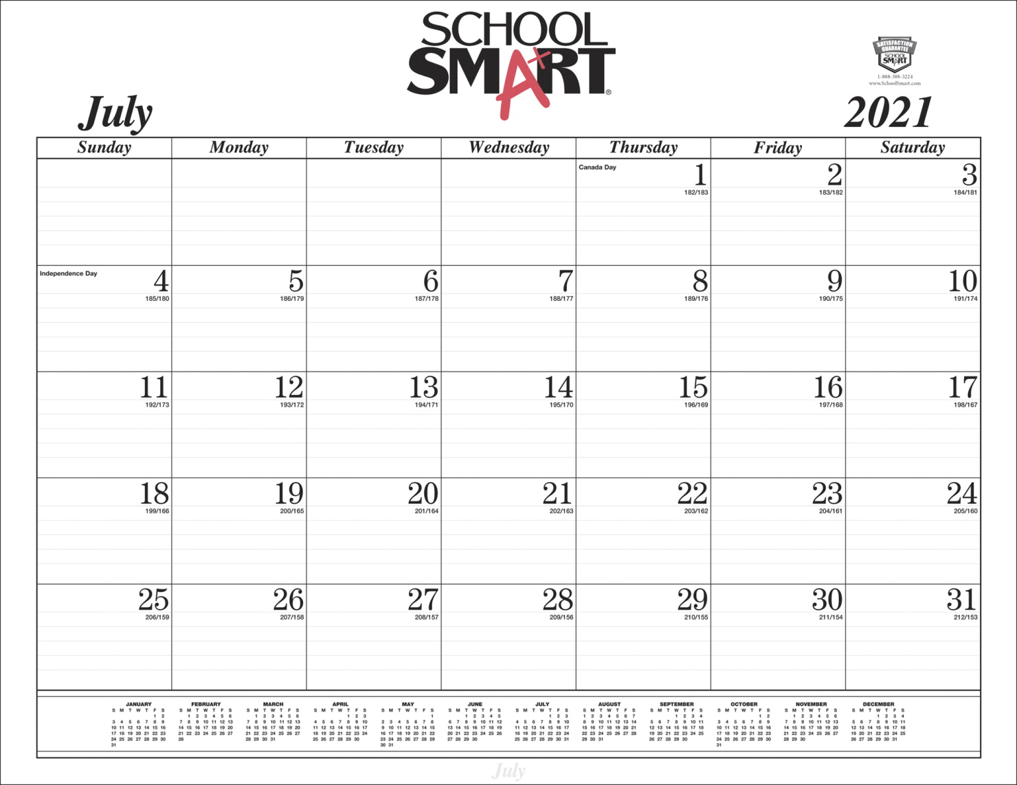 Ssi 2022 Calendar.School Smart Desk Pad Refill 14 Months 22 X 17 In School Specialty Canada