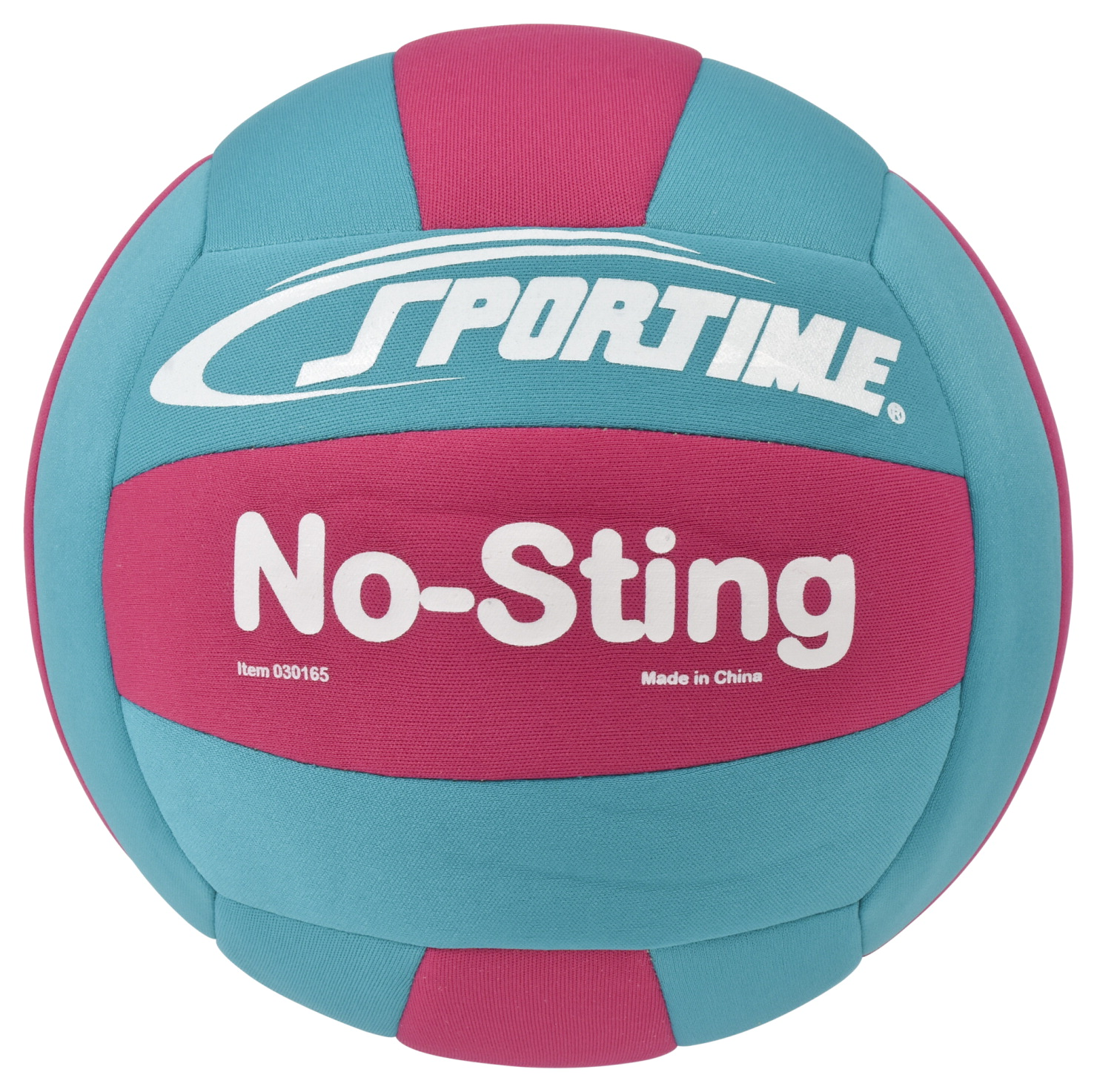 Sportime No-Sting Volleyball, 8 Ounces, Teal/Pink