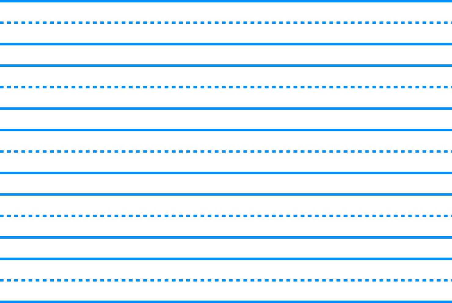 Paper: Three Line Writing Paper